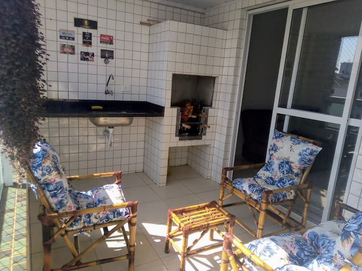 Apartamento Praia Grande varanda gourmet