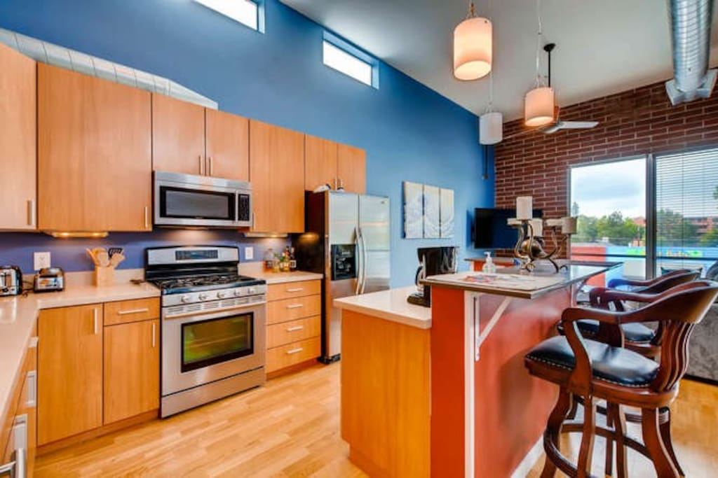 Cooks Kitchen with Gas Stove