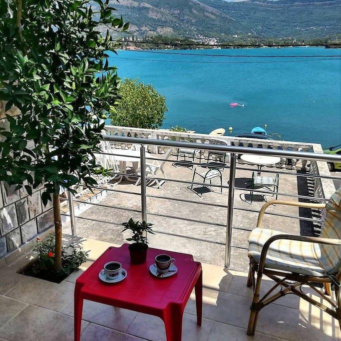 Balcony view,coffe time