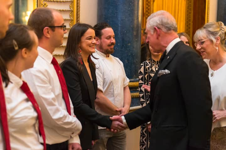 Katie your host was presented to HRH