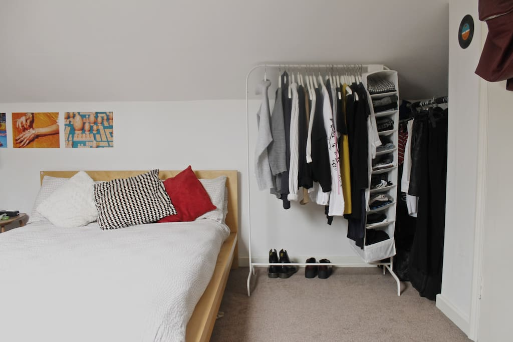 double bed & space to hang your clothes