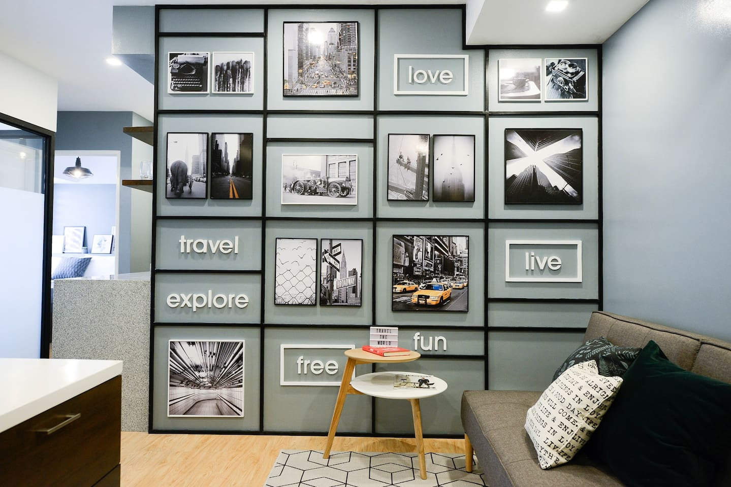 Be travel-inspired in your Instagram-worthy living area.