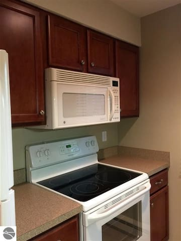 No kitchenette here! Full stove/oven to allow home cooked meals.