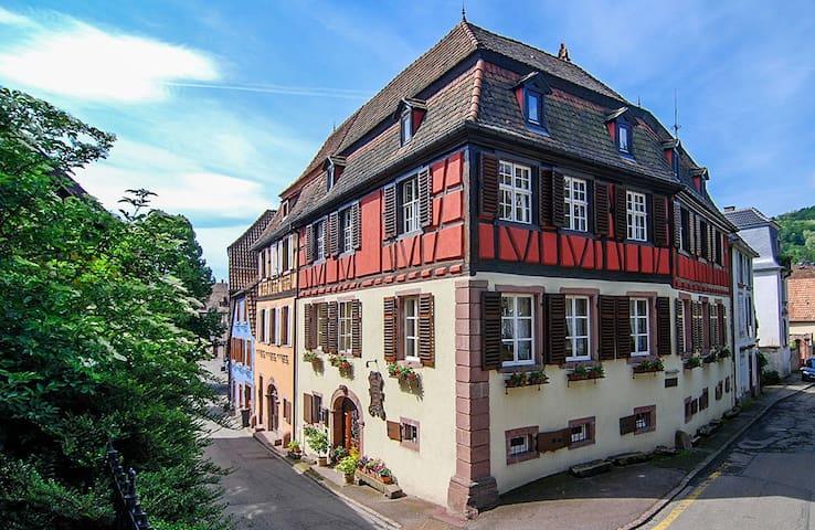 Chambre dans authentique demeure Alsacienne