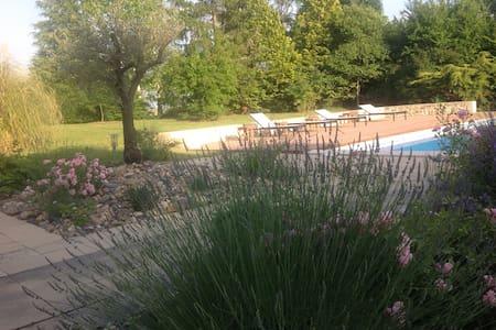 Chambres confortables avec piscine à la campagne - Baleyssagues - Bed & Breakfast