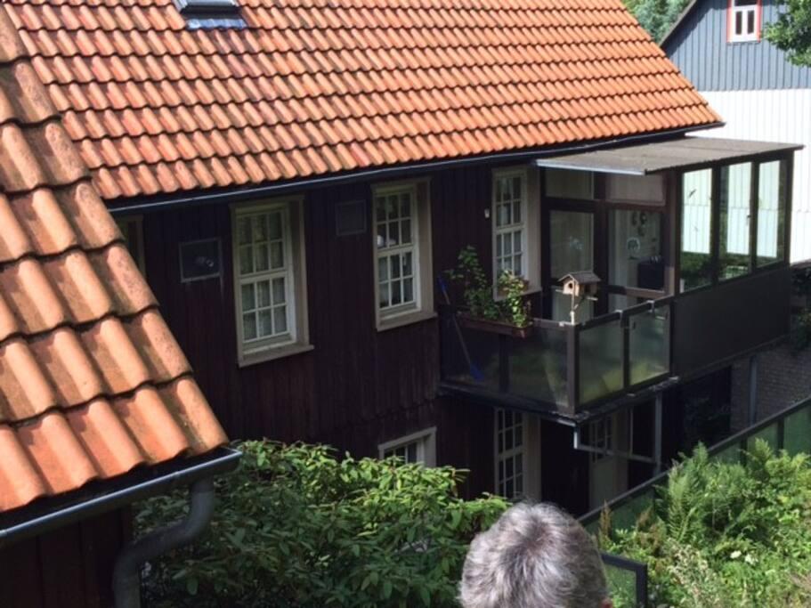 Balkon und Wintergarten zum entspannen