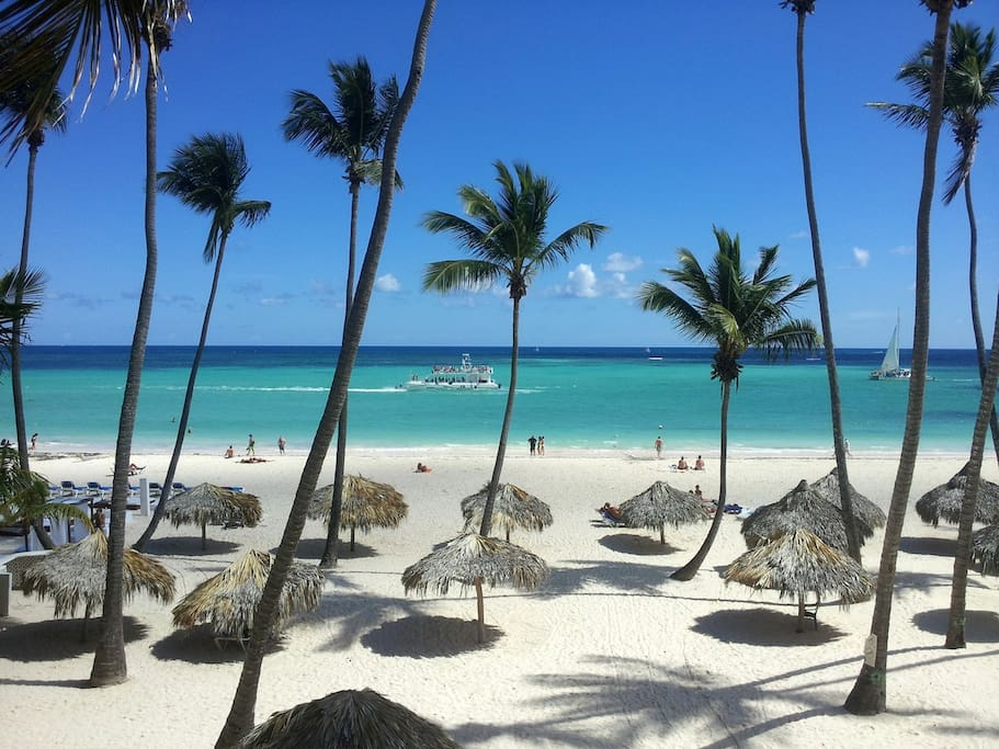 Our private Beach and your personal Loungers and Parasols