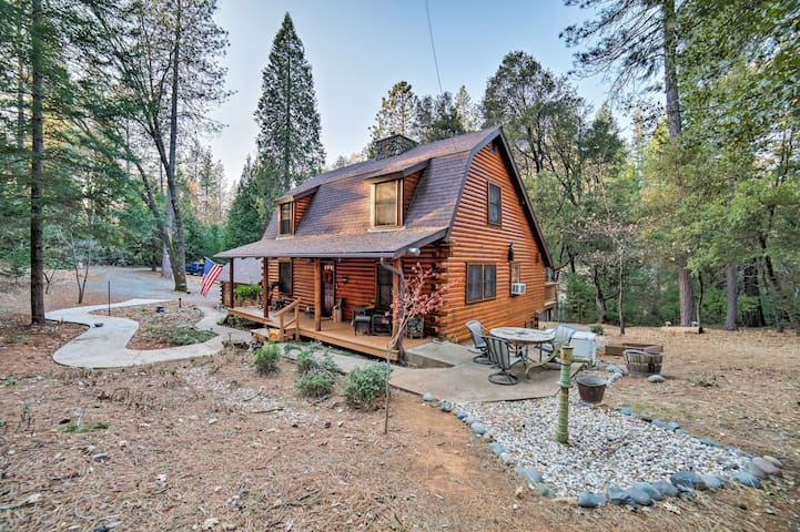 NEW! Secluded Log Cabin Studio Apt in Grass Valley