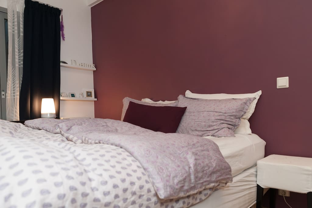 Bedroom with very comfortable double bed