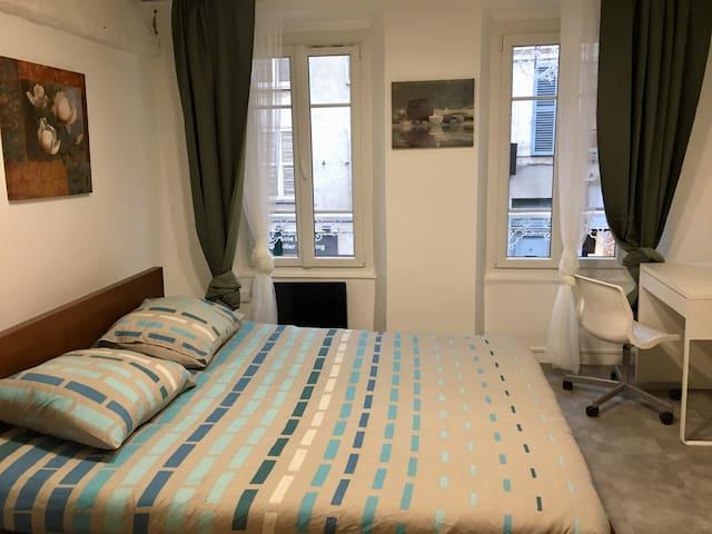 市中心城堡公园全新装修温馨一室一厅,离INSEAD仅1公里