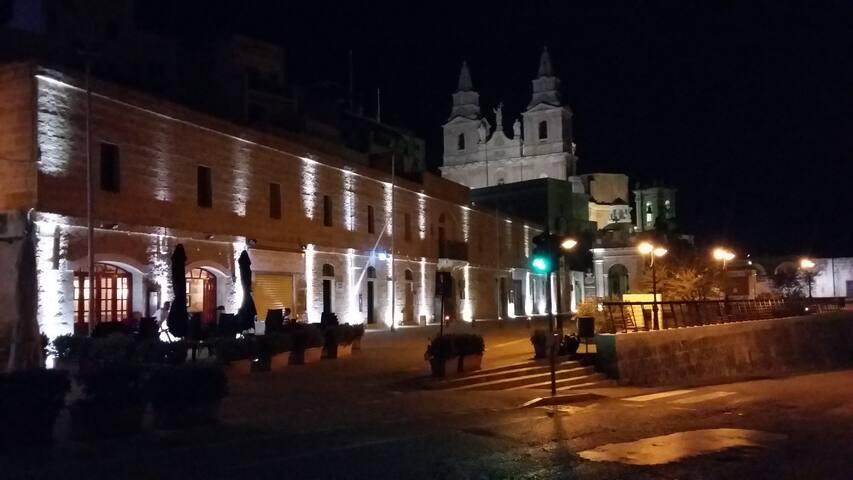 Mellieha Centre by night.