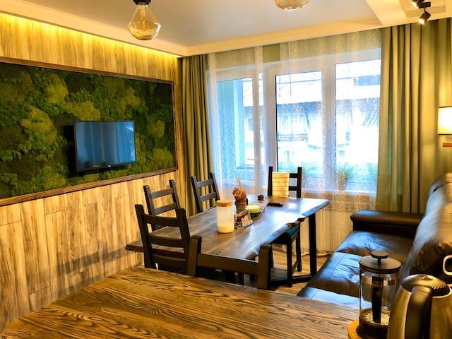 Горный приют Домбая  в ЭКО стиле :)