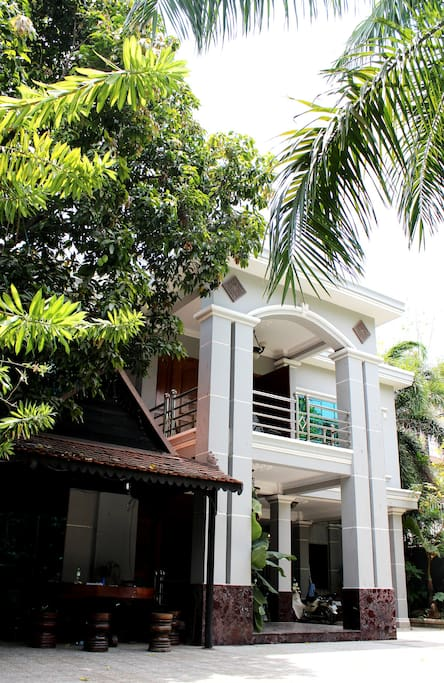 Yard of the villa