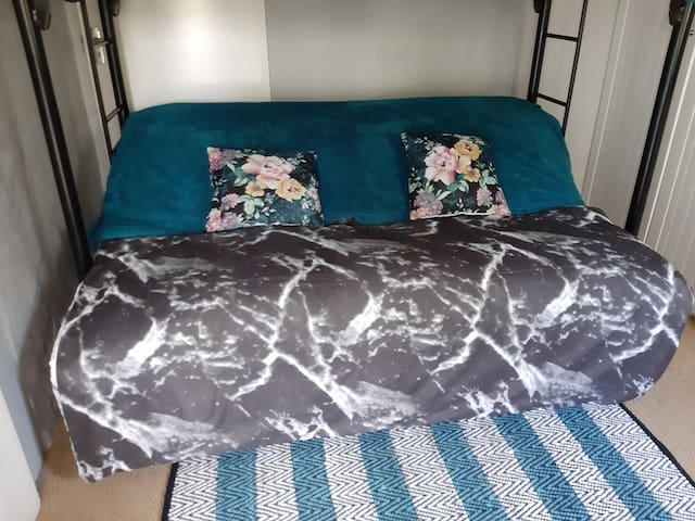 Couch that can be converted to a double bed