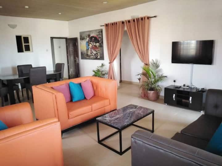 ARO|Apartments: Top Flr 2BD Apartment (Ogba/Ikeja)