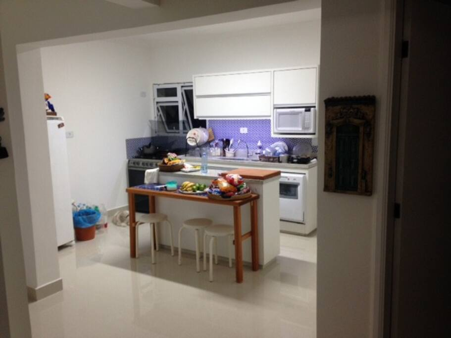 Cozinha aberta para a sala