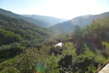 View across the farm & valley (Val Graveglia)