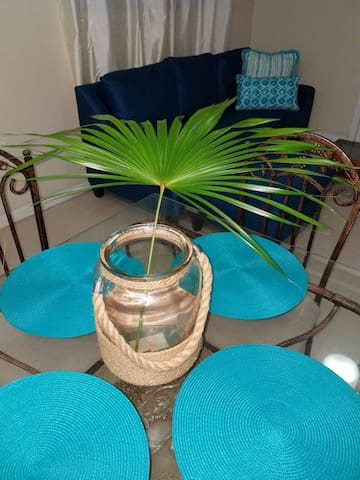 Beach inspired dining table