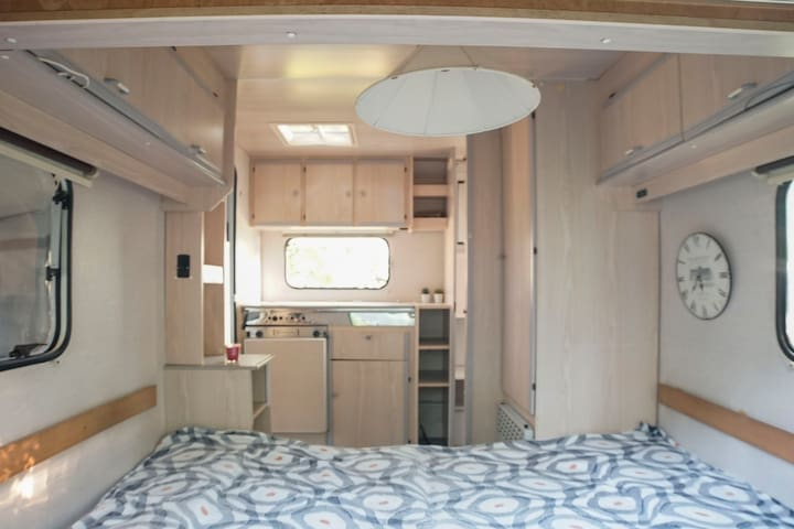 Charming camping trailer located on Hel Peninsula