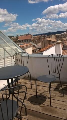 T2, lumineux avec terrasse, 4ème étage, rue Granet - Aix-en-Provence - Apartamento