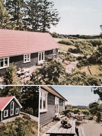 Idylisk træhus i smukke omgivelser - Ans