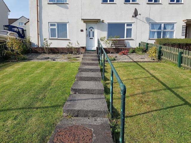Enclosed front garden