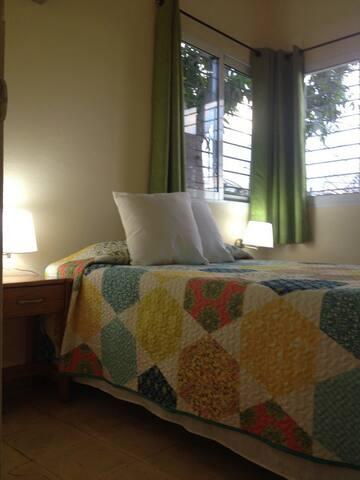 Bedroom 1 cama matrimonial con dos almohadas