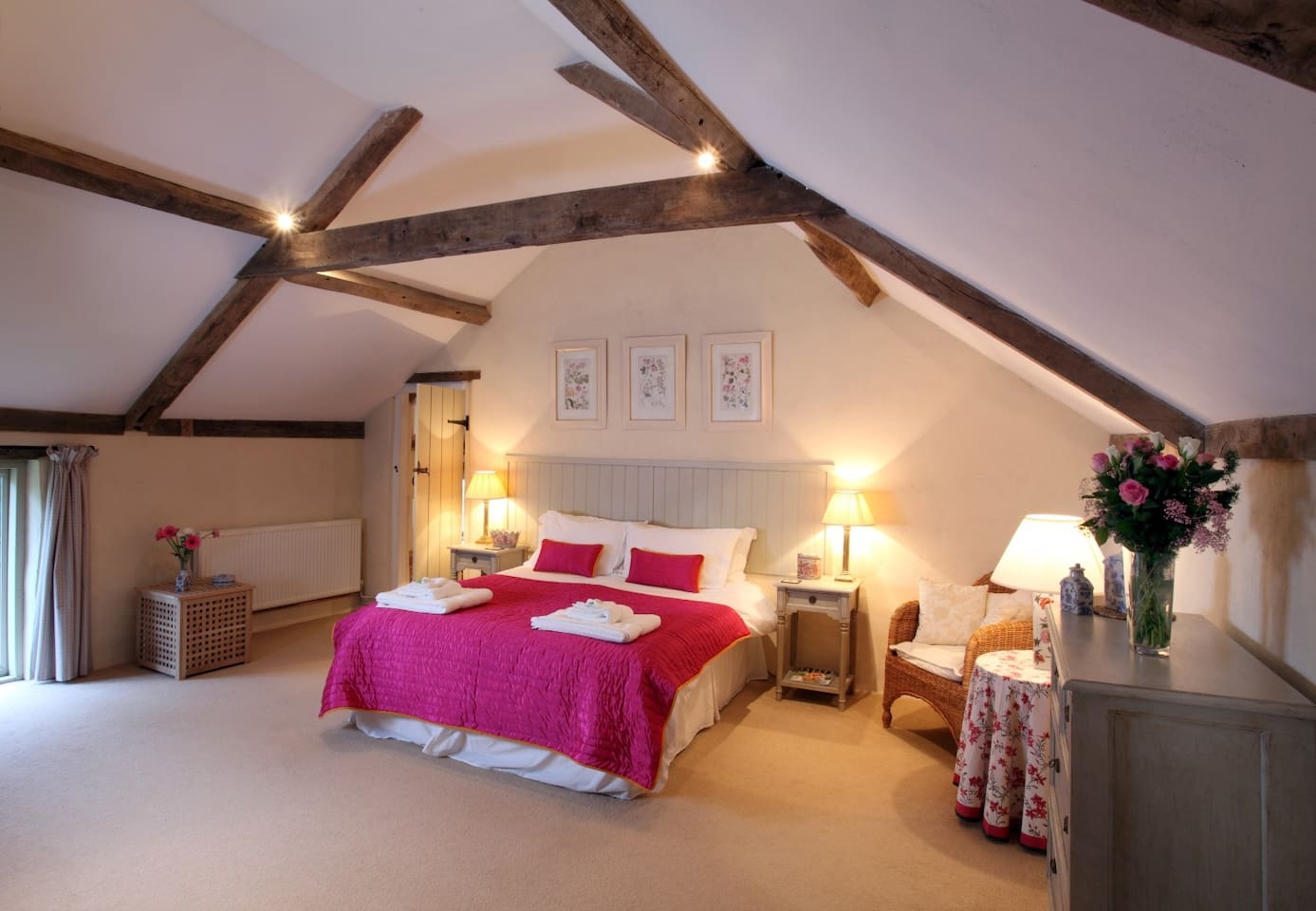 Master Bedroom with king size bed which can be converted into two singles on request