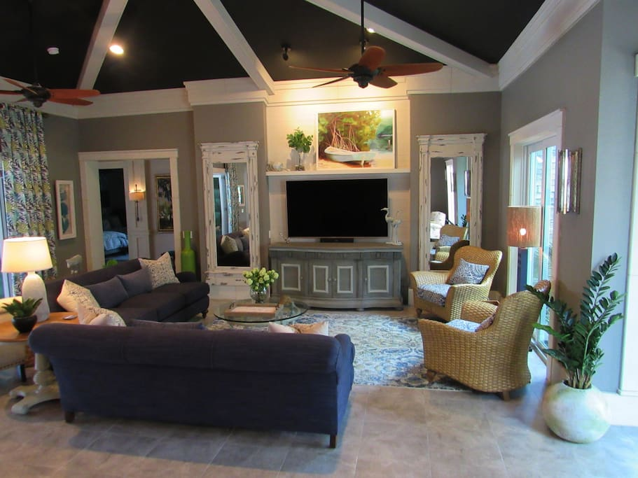 Living Areas Relaxed & Simple, Where Nothing is too Formal or Off Limits