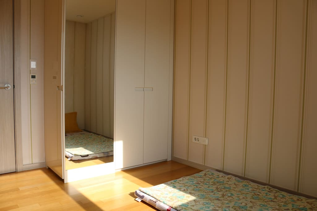 One sunny and cozy room with soft mattress