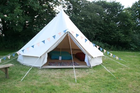 Go Wild Adventures 5m Bell Tent Simple Glamping - Saint Clears - 텐트
