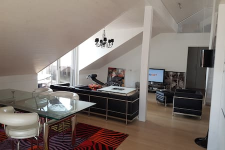 Grand appartement moderne, 4 ch., 10 mn Lausanne - Mex