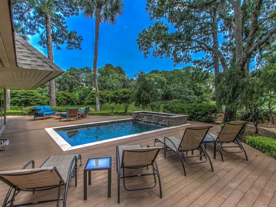 3 Marsh Island Road in Sea Pines has a large wrap around deck