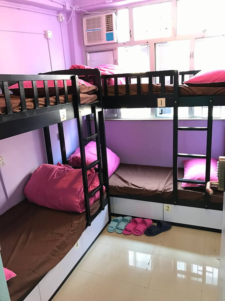 (28-5), 6 beds boy room 男生房,3 Mins to jordan MTR
