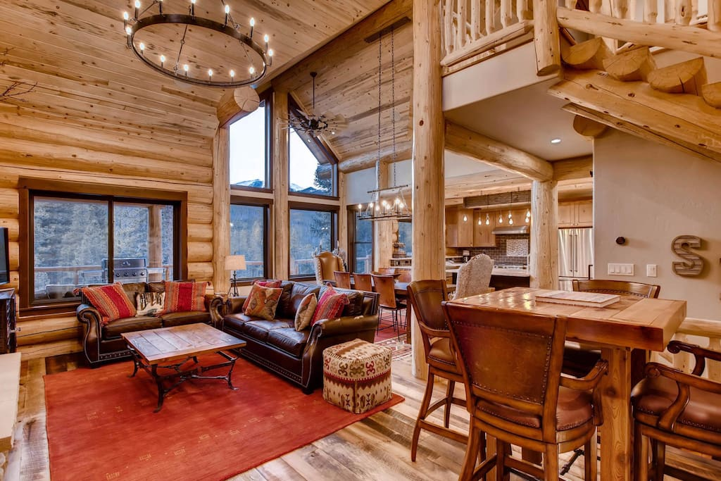 This luxurious cabin was built in 2017.