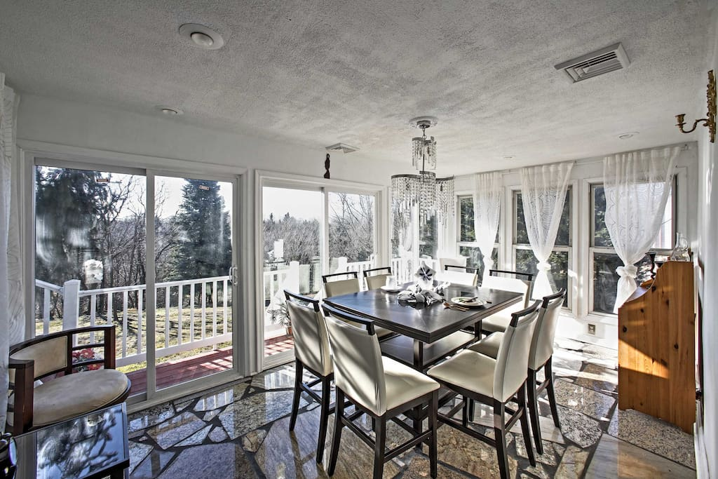 Gather around the charming dining room table and play your favorite family games or enjoy home cooked meals.