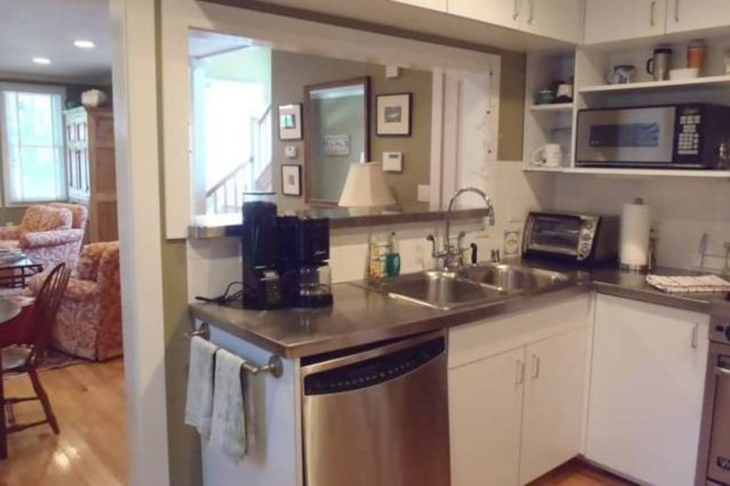 Stainless appliances in kitchen - a gourmet delight!