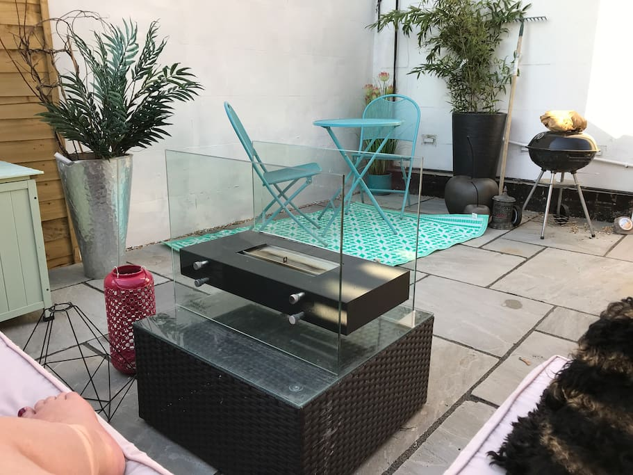 Recently completed courtyard garden