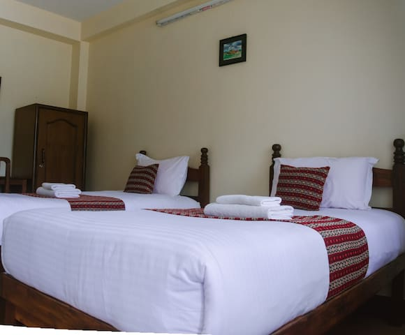 Patan's most peaceful stay, Two twin bed & balcony