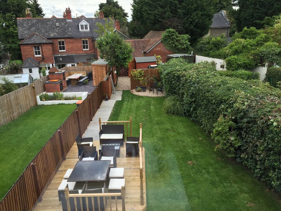 Garden View from Private Double Room