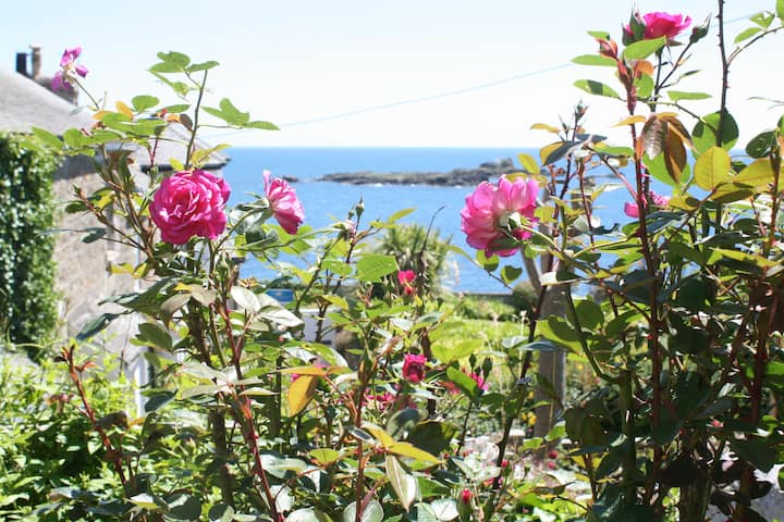 Cottage in Mousehole, sea views & private parking