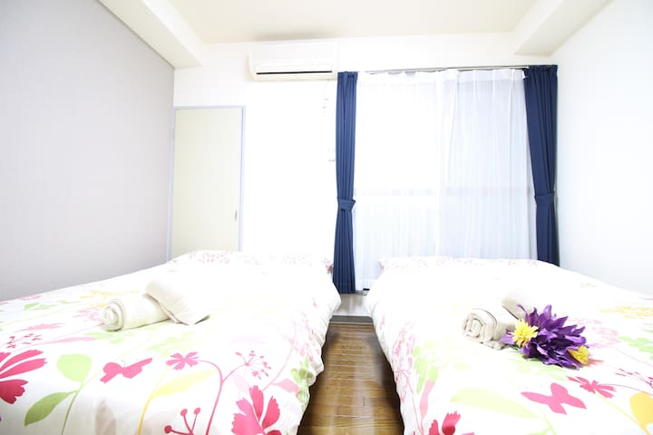 Namba,Shinsabashi: 5min walk from STA,Free Wifi Z7 - Nishi-ku, Ōsaka-shi - Apartment
