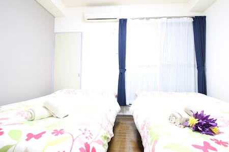 Namba,Shinsabashi: 5min walk from STA,Free Wifi Z7 - Nishi-ku, Ōsaka-shi - Appartement