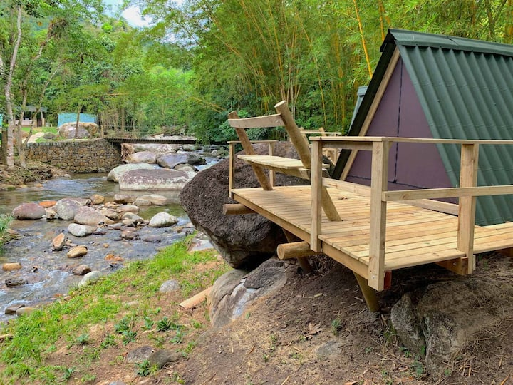Velinn Camping Ilhabela- Cabana Casal na Cachoeira