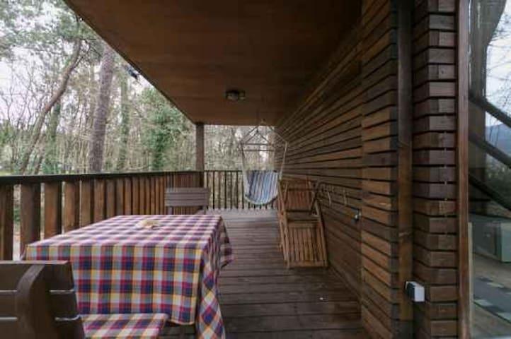Casiña Refugio en el Bosque en Aldea Os Muiños