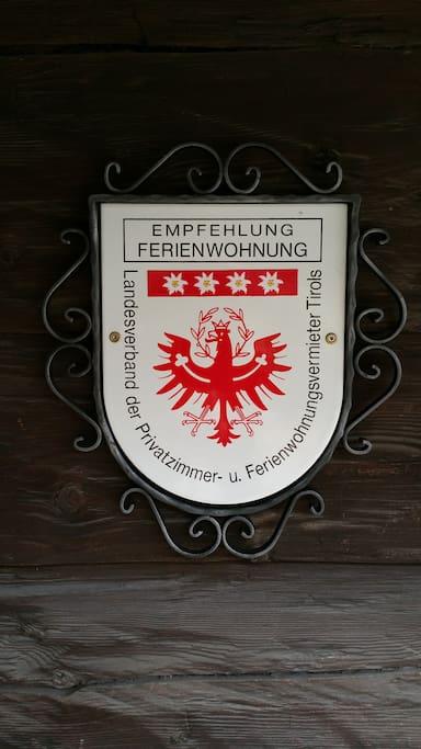Qualitätssiegel 4 Edelweiß (höchste Auszeichnung des Privatvermieterverbandes Tirol)