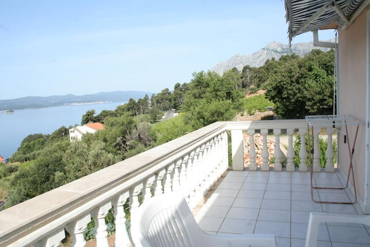 One bedroom apartment with terrace and sea view Mokalo, Pelješac (A-639-a)