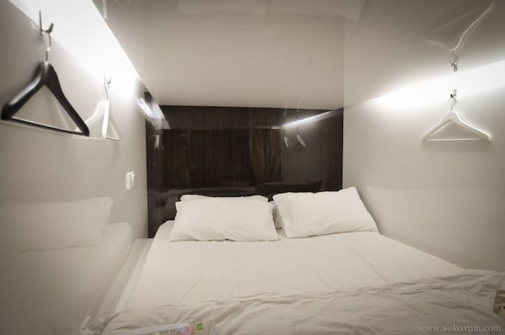 Double capsule room in the city center