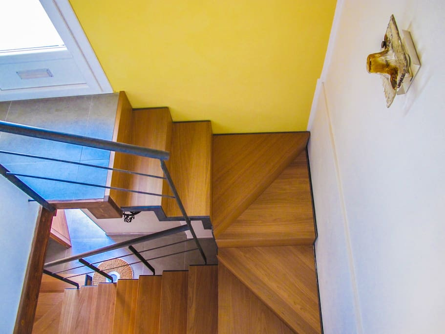 The stairway to the apartment