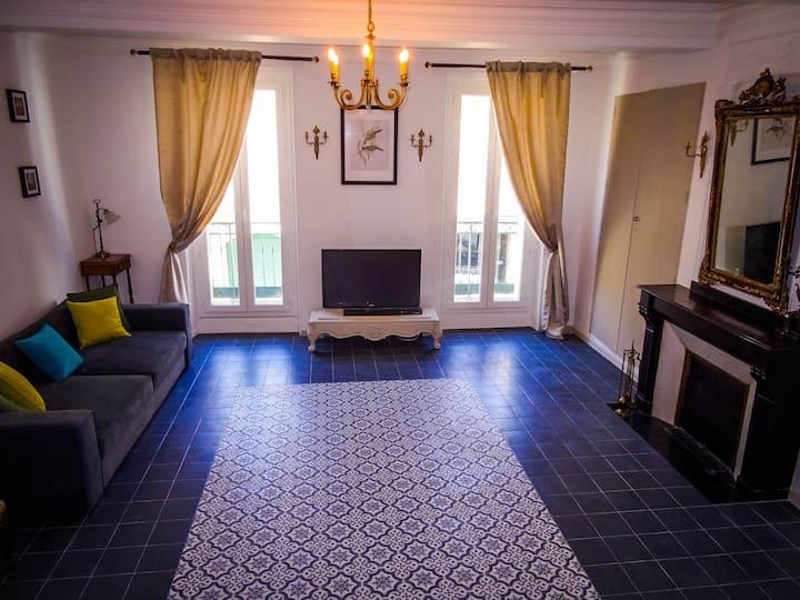 Grand appartement de 110 m² avec un joli jardin